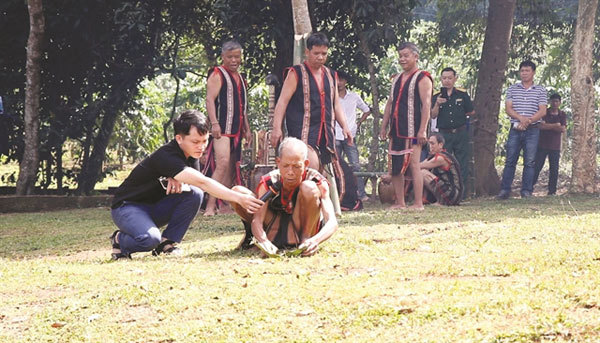 Unique water ceremony of the Jrai people