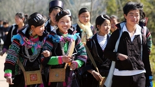 Costumes of Mong people in Sa Pa
