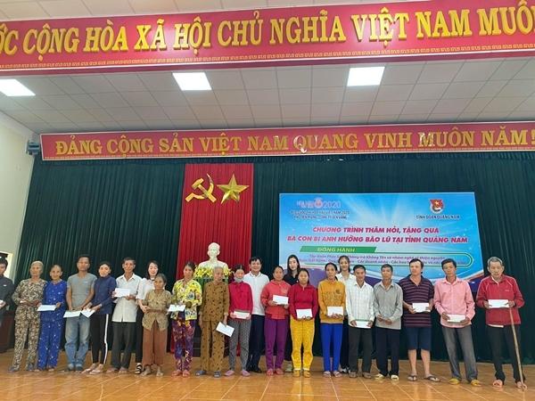 BTC Hoa Hậu Việt Nam 2020 trao hơn 1 tỷ hỗ trợ người dân Quảng Nam