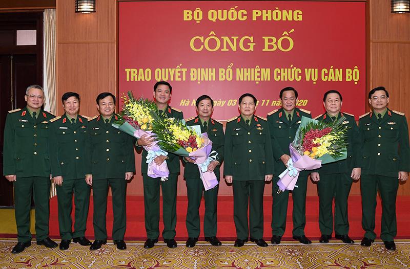 Trao quyết định bổ nhiệm hai Thứ trưởng Bộ Quốc phòng