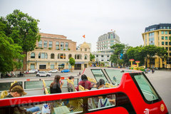 Hanoi seen from double-decker bus