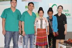 Cô gái dân tộc La Ha bị ung thư xương được lắp chân giả