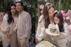 Lưu Hương Giang đón tuổi 37 bên Hồ Hoài Anh và con gái