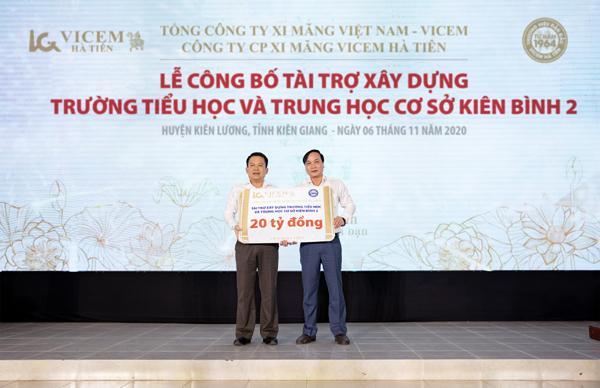 Vicem Hà Tiên tài trợ 20 tỷ đồng xây trường học tại Kiên Giang