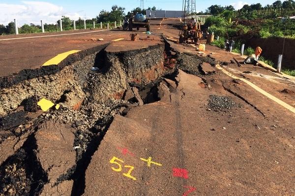 Khởi tố vụ án đường tránh 250 tỷ ở Gia Lai sụt lún như bị động đất
