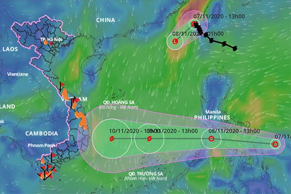 Thêm áp thấp mới sắp kéo vào Biển Đông khi bão số 11 vừa suy yếu