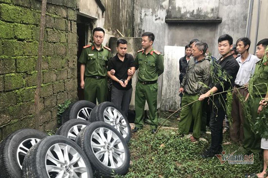 Thủ đoạn của 'cú đêm' đột kích tháo trộm bánh ô tô ở Nghệ An