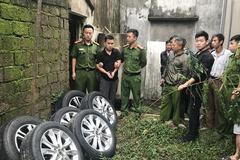 """Thủ đoạn của """"cú đêm"""" đột kích tháo trộm bánh ô tô ở Nghệ An"""