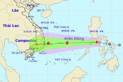 Bão vào Biển Đông, ngày 9/11 cách đảo Song Tử Tây 220km