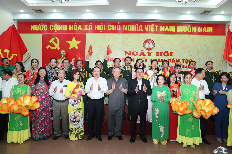 Lãnh đạo Đảng, Nhà nước dự ngày hội Đại đoàn kết toàn dân tộc tại Hà Nội