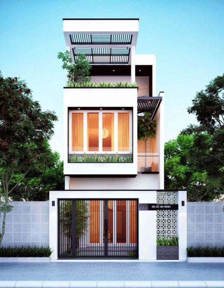 Thiết kế mới lạ cho nhà mặt tiền hẹp chỉ 2-3m nổi bật giữa phố