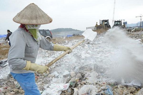 Nam Son landfill,waste treatment