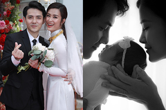 Khoảnh khắc hạnh phúc của vợ chồng Đông Nhi bên con gái đầu lòng