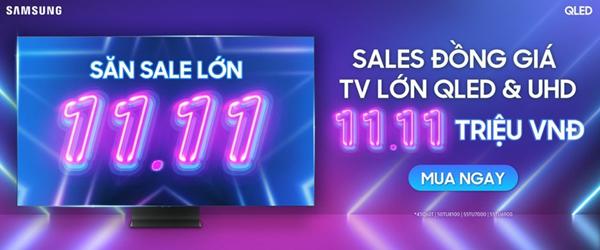 Ngày độc thân không cô đơn với TV Samsung đồng giá 11,11 triệu