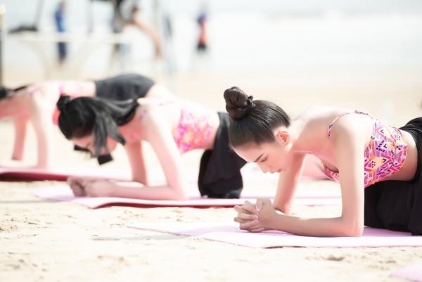 Ngắm top 35 Hoa hậu Việt Nam 2020 thi bơi, chạy...