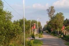 Điện mặt trời chiếu sáng đường quê NTM Xuân Lộc
