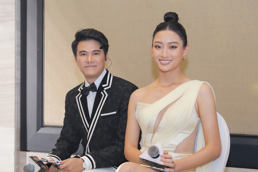 Vũ Mạnh Cường sánh đôi cùng Lương Thuỳ Linh tại Hoa hậu Việt Nam