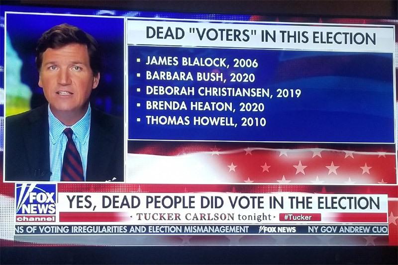 Nhà báo tung bằng chứng tố 'người chết' đi bầu Tổng thống Mỹ