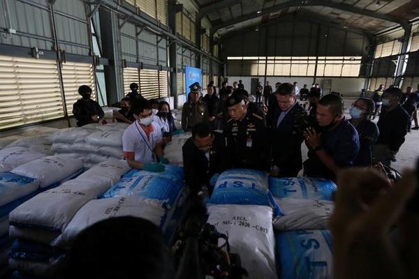 Thái Lan bắt giữ lượng ma túy tổng hợp trị giá gần tỷ USD