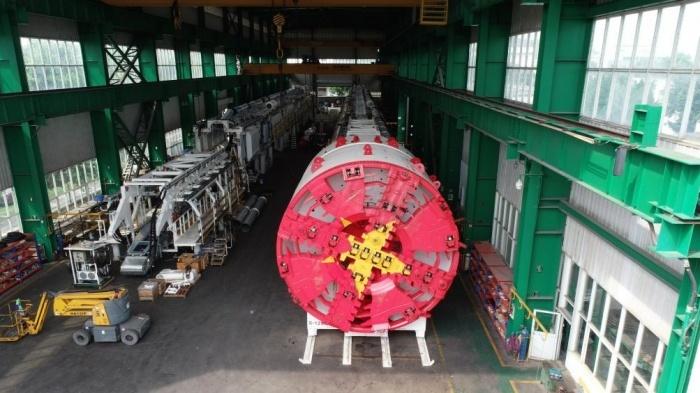 Robot nặng 850 tấn đào hầm đường sắt Nhổn - ga Hà Nội