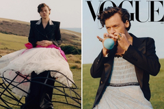 Nam ca sĩ đầu tiên trong lịch sử mặc váy lên trang bìa Vogue Mỹ