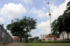 TP.HCM sẽ di dời cây xanh khi trùng tu Cột cờ Thủ Ngữ 155 năm tuổi
