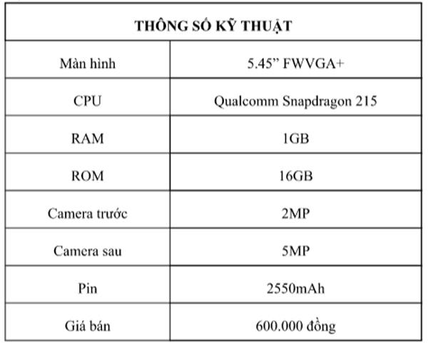 Ra mắt Vsmart Bee Lite 600 ngàn đồng, phổ cập điện thoại thông minh tại Việt Nam