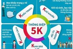 """Thực hiện thông điệp """"5K"""" để sống chung an toàn với dịch bệnh"""