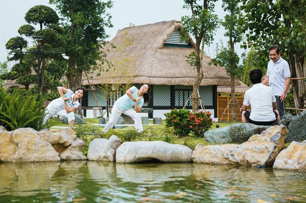 Vườn Nhật tĩnh lặng, thư thái tái tạo năng lượng cho cư dân khi bước chân vào