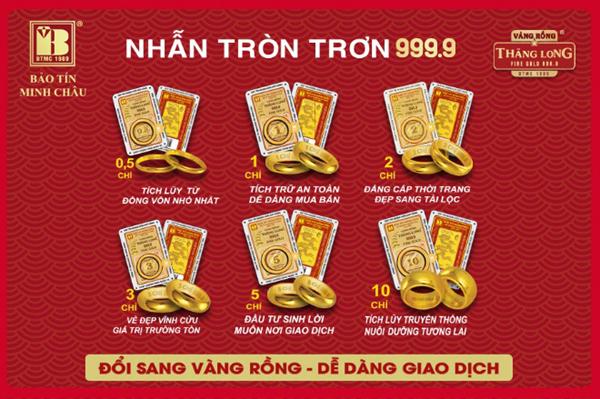 Cơ hội đổi vàng thị trường sang Vàng Rồng Thăng Long với giá tốt
