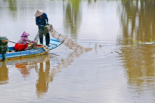 A day in Hau Giang Province during wet season