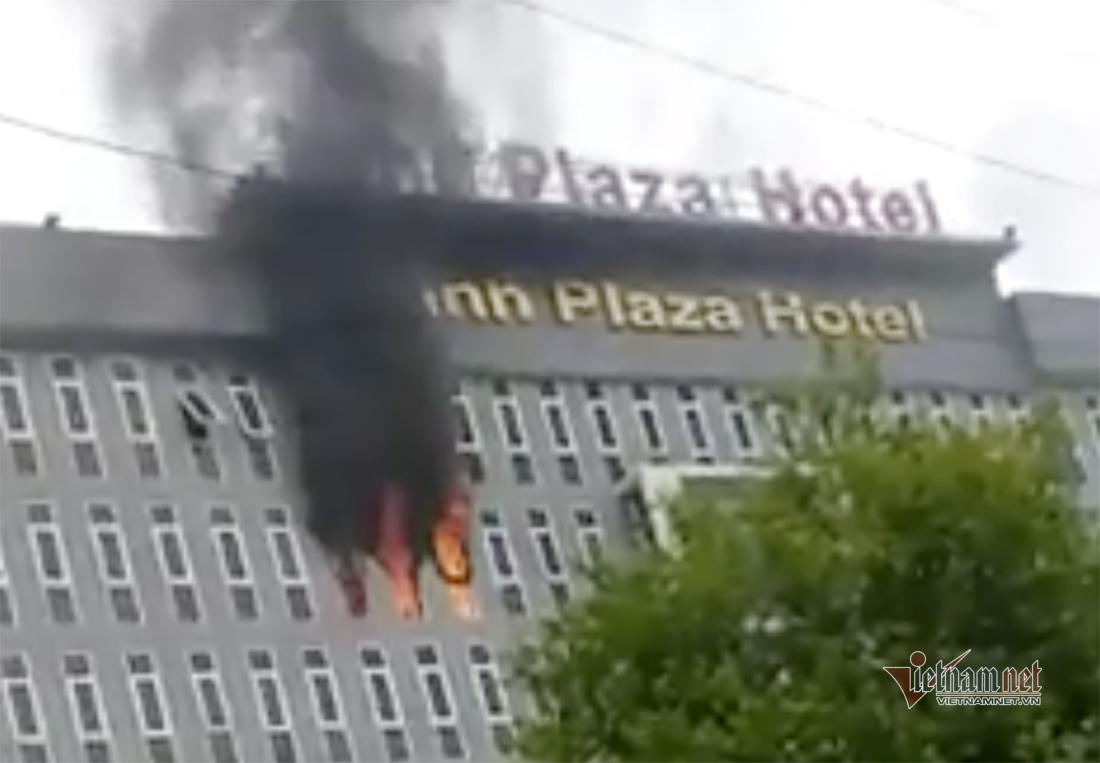 Cháy ở khách sạn Vinh Plaza ở Nghệ An