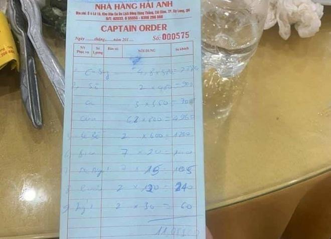 Ăn 6 kg cua mất 5 triệu, khách tố nhà hàng Quảng Ninh chặt chém