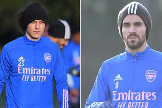 Hai cầu thủ Arsenal đánh nhau trên sân tập
