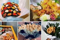 Unique bouquets made using wide range of food