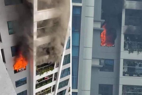 Cháy ở chung cư Goldmark City, hàng trăm người tháo chạy