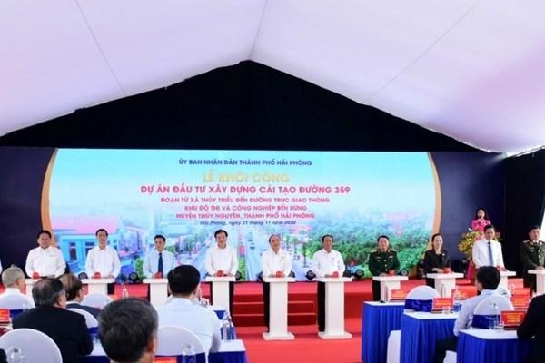 Thủ tướng ấn nút khởi công dự án cải tạo đường gần 1.200 tỷ tại Hải Phòng