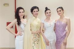 MC Kim Huyền Sâm rạng rỡ đi xem chung kết Hoa hậu