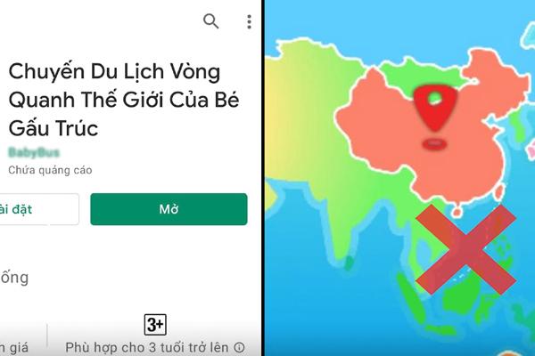 Cảnh giác game, văn hóa phẩm Trung Quốc chứa bản đồ phi pháp
