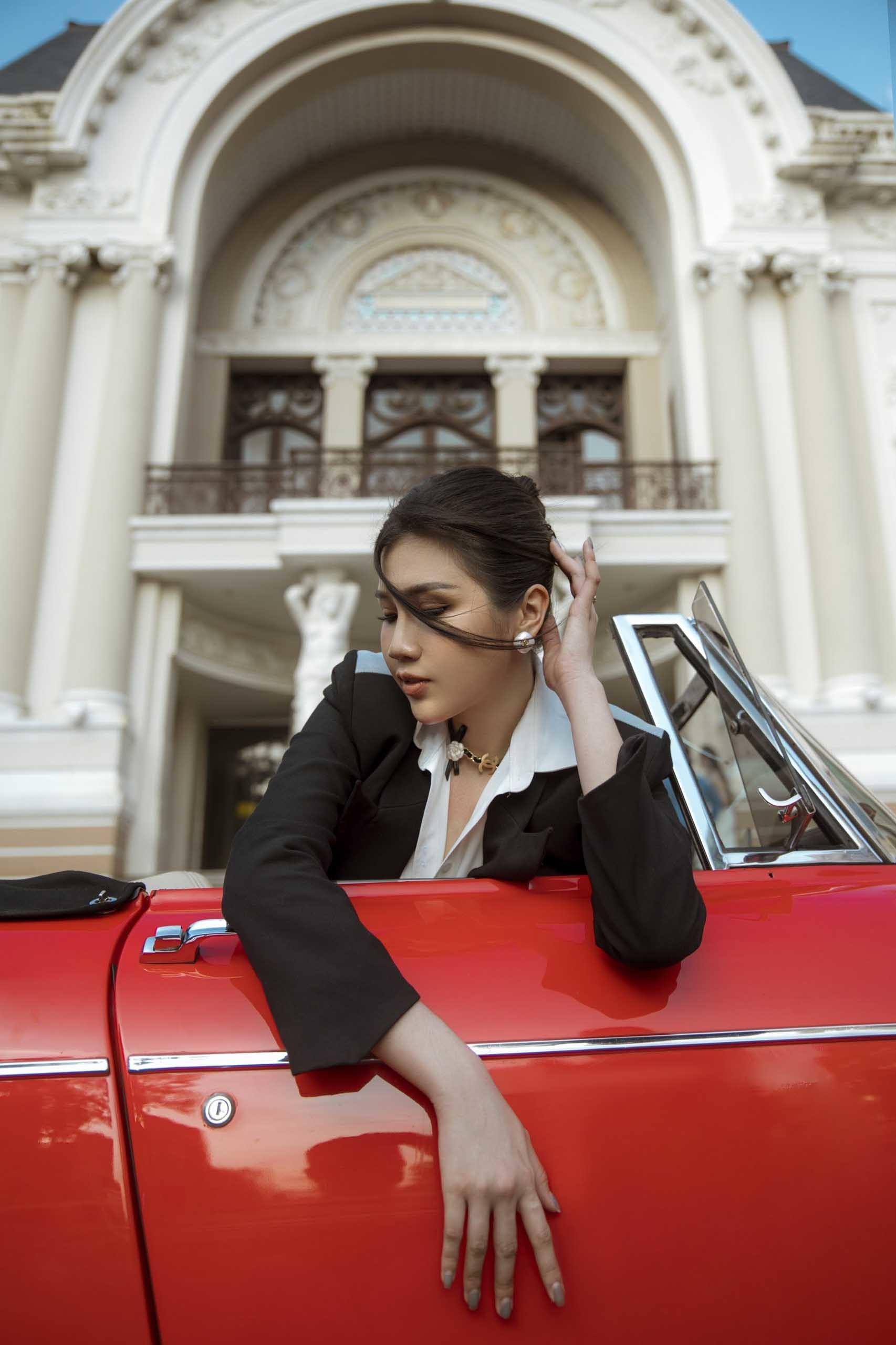 Người mẫu Phương Đài phong cách menswear đầy cá tính