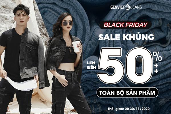Thời trang Genviet Jeans ưu đãi đến 50%++ dịp Black Friday