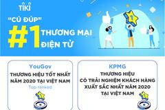 Tiki nhận 'cú đúp' top 1 về thương mại điện tử