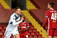 Liverpool thất bại muối mặt trước Atalanta