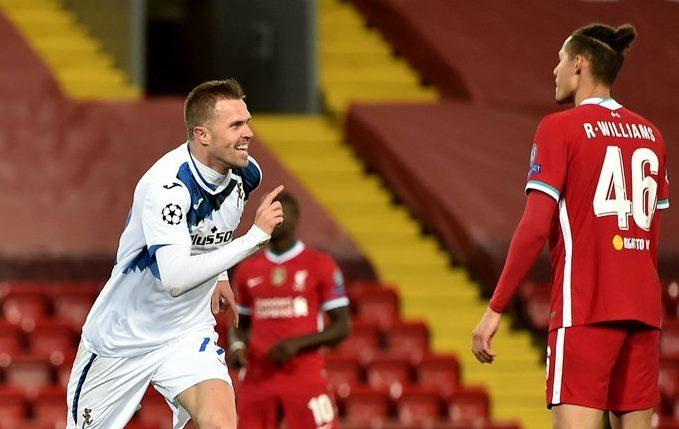 Xem video bàn thắng Liverpool 0-2 Atalanta