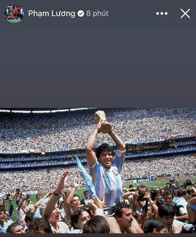 Giới bóng đá Việt tiếc thương Diego Maradona