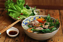 Vietnamese noodle soup - version of Can Tho