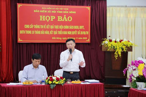 10 tháng, BHXH Đắk Nông thu đạt 889.072 triệu đồng