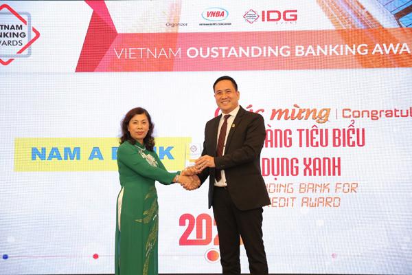 Nam A Bank nhận giải ngân hàng tiêu biểu về tín dụng xanh năm 2020