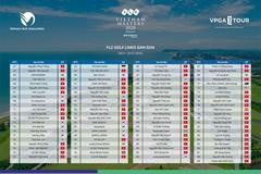 """Giải golf chuyên nghiệp Việt Nam 2020 """"chốt sổ"""" 89 VĐV"""