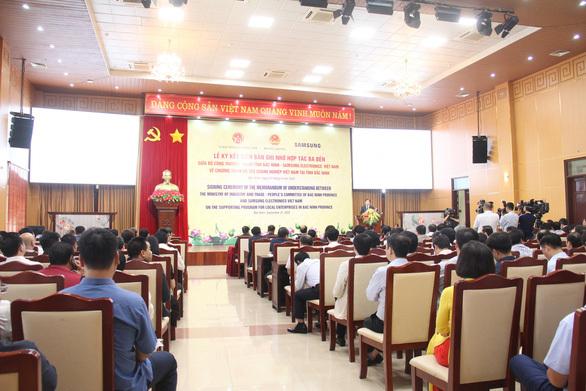 Bắc Ninh và Samsung Việt Nam hợp tác phát triển công nghiệp hỗ trợ